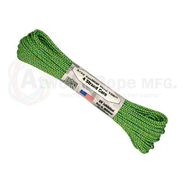 Паракорд ATWood Rope Paracord 275 - 3/32 Green Spec 30м, США