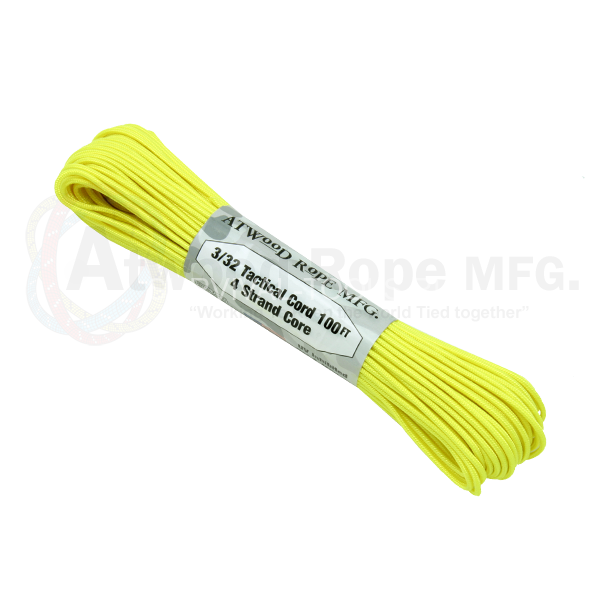 Паракорд ATWood Rope Paracord 275 - 3/32 Neon Yellow 30м, США