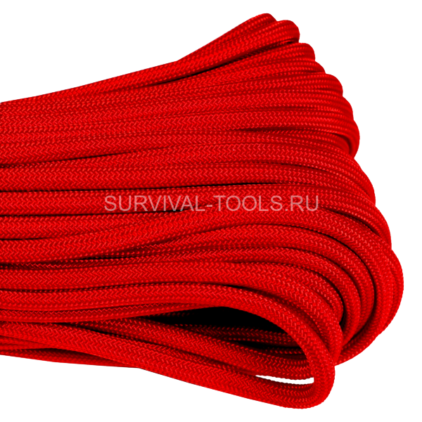 Паракорд ATWood Rope Paracord 550 type III Red 30м, США