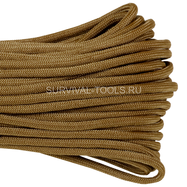 Паракорд ATWood Rope Paracord 550 type III Coyote 30м, США