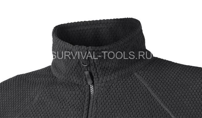 Куртка Helikon Alpha Tactical Grid Fleece Jacket черная (Black)
